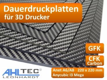 3D-Druck & Digitalisierung 3D-Druck & Digitalisierung Carbon Dauerdruckplatte 1,0 x 250x250mm 3D Drucker Druckplatte für ABS PLA PETG Hips PMMA Filament