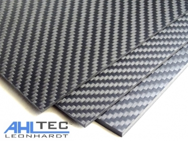 Carbon Fibre Sheet 500 mm x 300 mm 2,0 mm