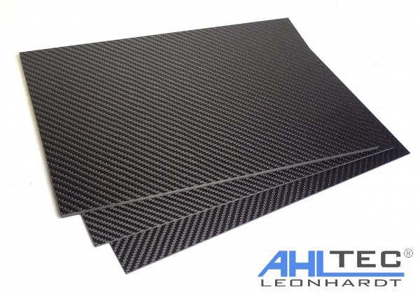 1,1 mm Carbon-Platte 320 x 150 mm CFK Kohlefaser