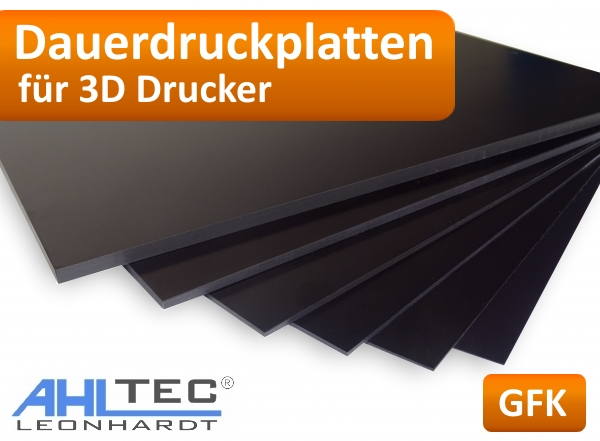 3D Druckplatte 510x510x10mm plan gefräst foliert Aluminium AlMg4,5Mn Zuschnitt